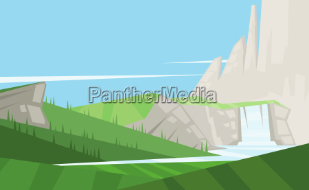 digital vector abstract background with trees