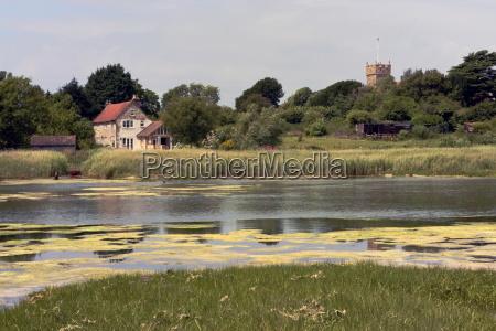 view across river yar freshwater isle
