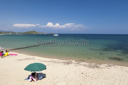 beach baia di nora cagliari sardinia