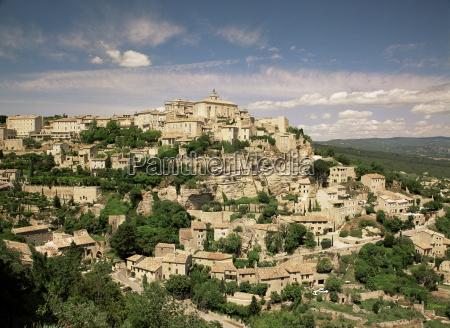 village of gordes vaucluse provence france