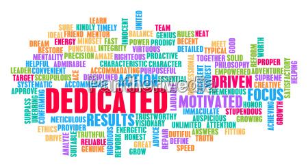 dedicated word cloud konzept