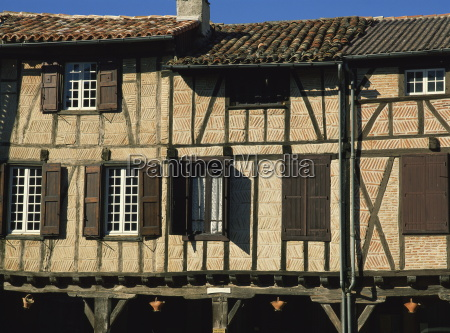 exterior of timber framed houses with
