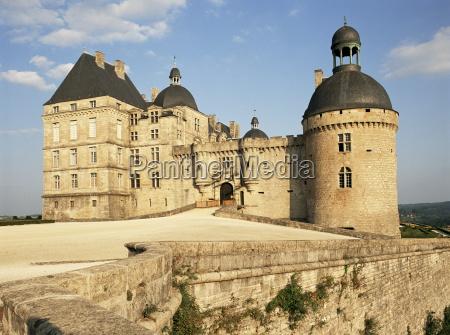 chateau of hautefort dordogne aquitaine france