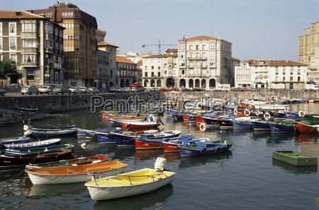harbour castro urdiales cantabria spain europe