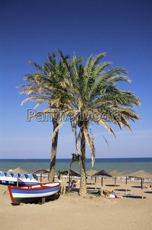 beach at estepona malaga andalucia spain