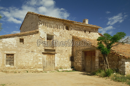 exterior of traditional stone farmhouse near
