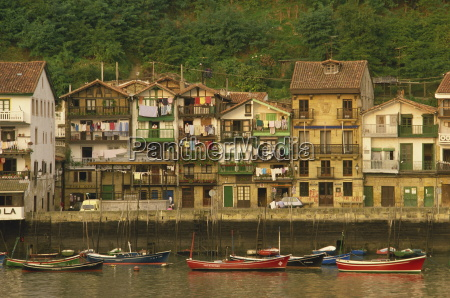 traditional houses along the waterfront and
