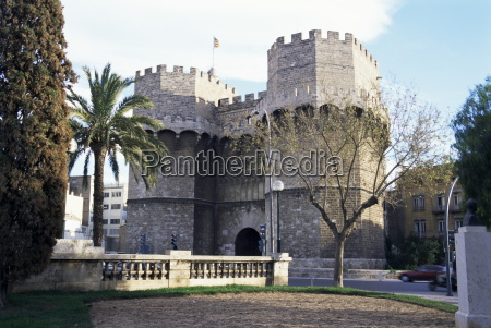 the 14th century town gate serranos