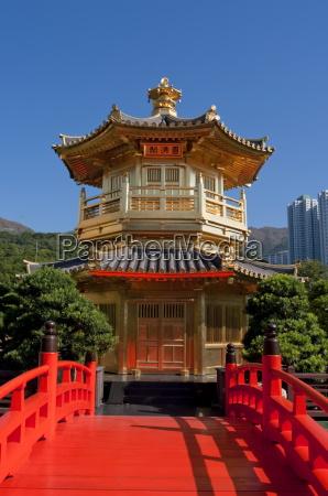 chi lin nunnery pagoda hong kong
