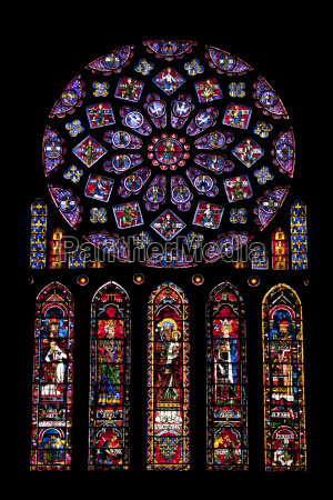 rose window medieval stained glass windows