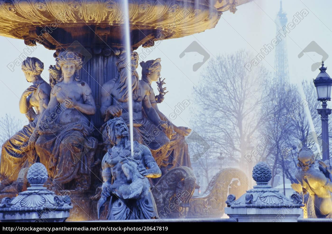 brunnen, place, de, la, concorde, paris, frankreich, europa - 20647819