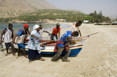 fishing boats tarrafal santiago cape verde