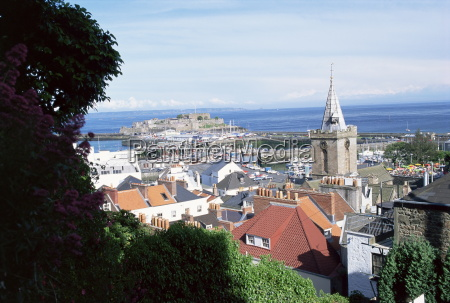 view over st peter port to