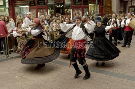 dancing the jota during the fiesta
