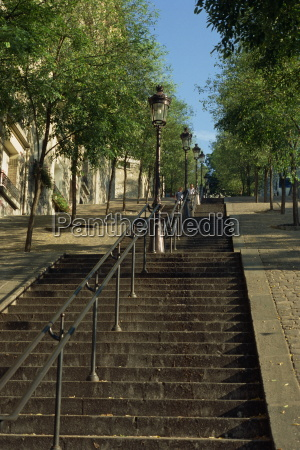 looking up the famous steps of