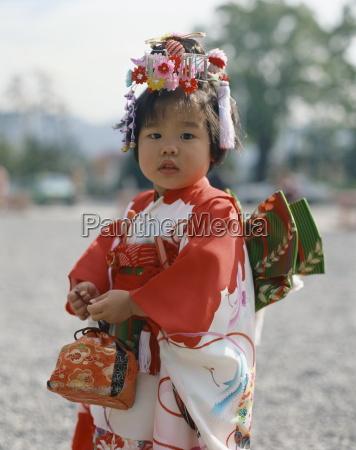 portrait of a little girl in