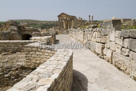 ancient roman city of thugga dougga