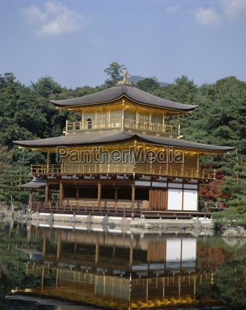 kinkaku temple golden pavilion rokuon ji
