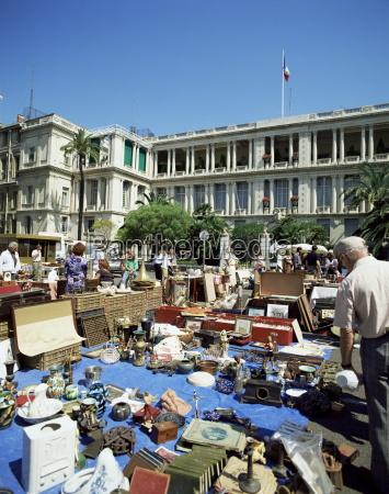 antique market in courses saleya nice