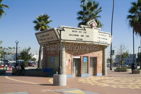 hollywood and vine station u bahn