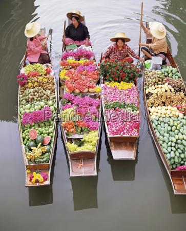 a group of four women market