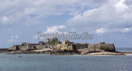 elizabeth castle at high tide jersey