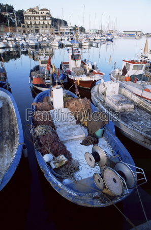 boats in the harbour arenys de