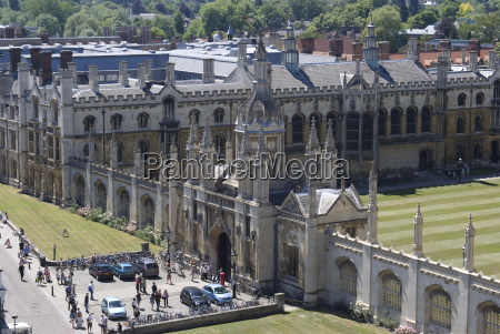 aerial view of kings college from