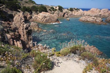 the sea at costa paradiso sardinia