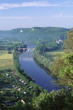 view from the castle to the