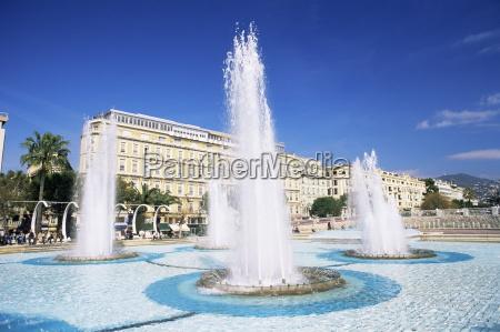 fountain in the espace massena nice