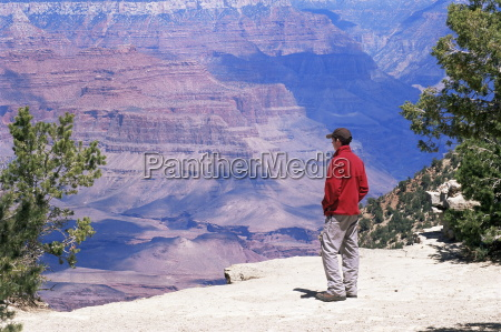 tourist admiring the view from the