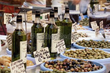 olives and olive oil on sale