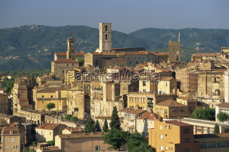 view of old town grasse french