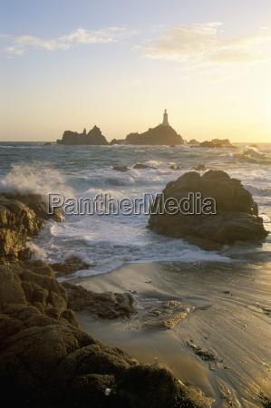 corbiere lighthouse st brelard corbiere point