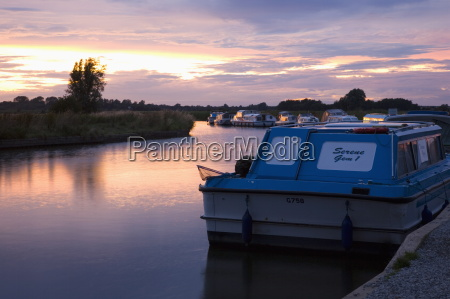pleasure boats moored on the river