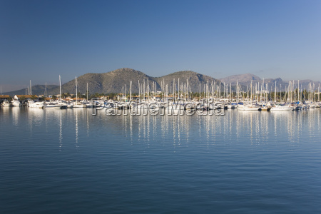 view across the harbour port dalcudia
