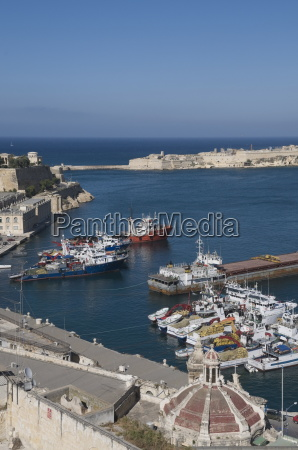 view of the grand harbour with