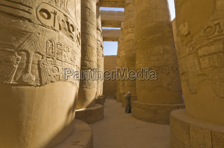 hieroglyphics on great columns in the