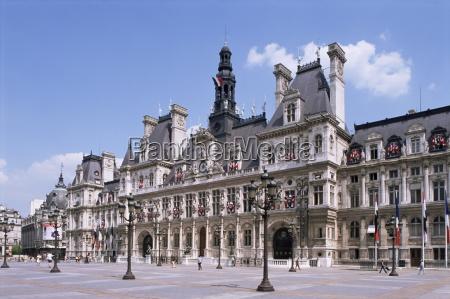 hotel de ville paris france europe