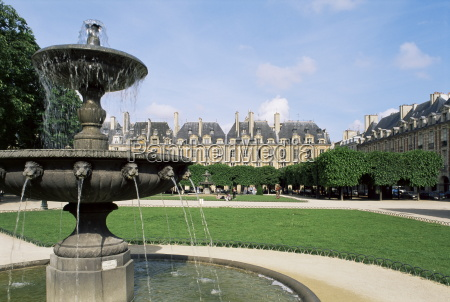 place des vosges paris france europe