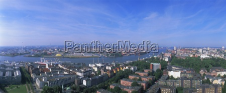 panoramic view from st michaelis hamburg