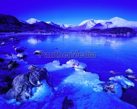 rannoch moor in winter highland region