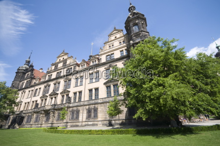 the court palace dresden saxony germany