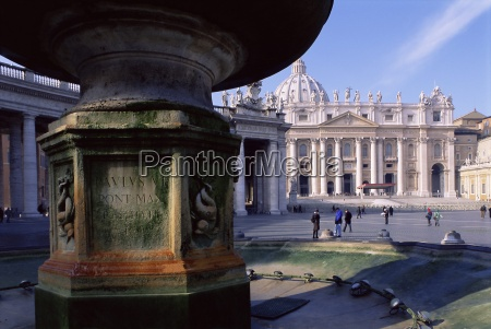 st peters square und basilika st