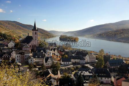 lorch rhine valley hesse germany europe