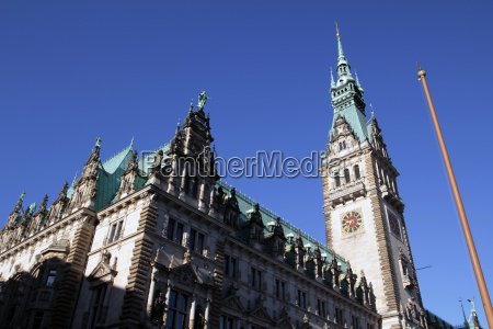 city hall hamburg germany europe
