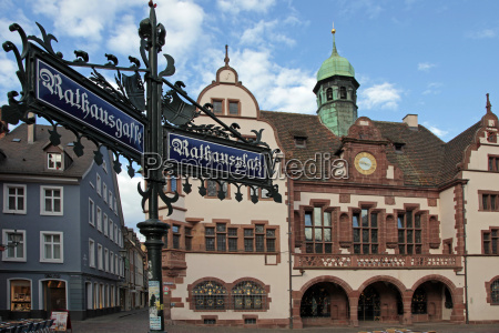 city hall rathausplatz old town freiburg
