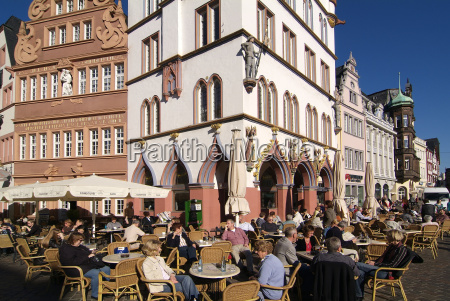 market square old town trier rhineland
