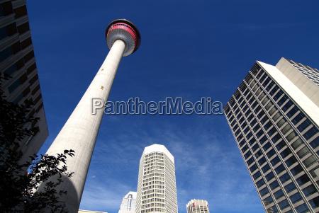 blau turm architektonisch stadt farbe modern